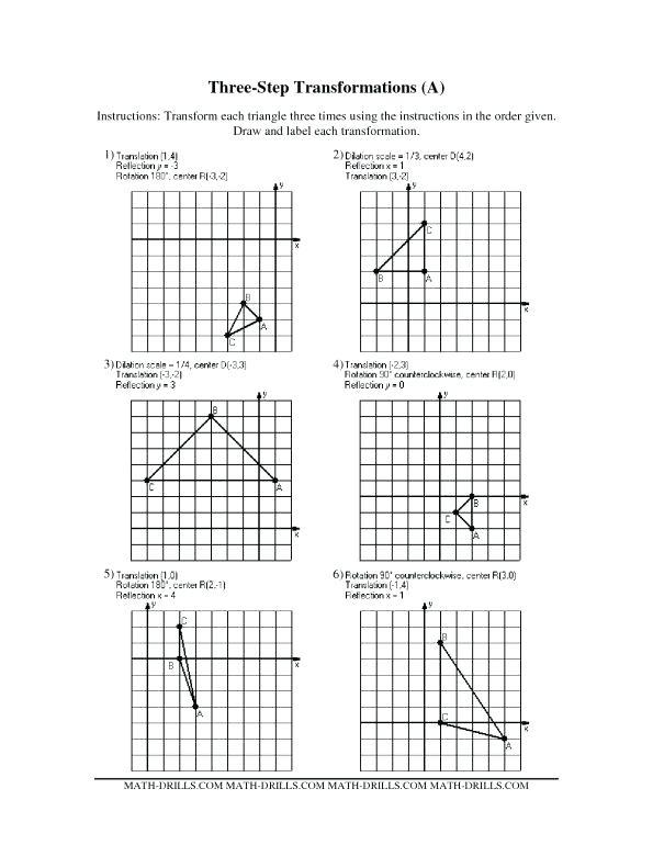Reflection Geometry Worksheet Geometry Worksheets Transformations