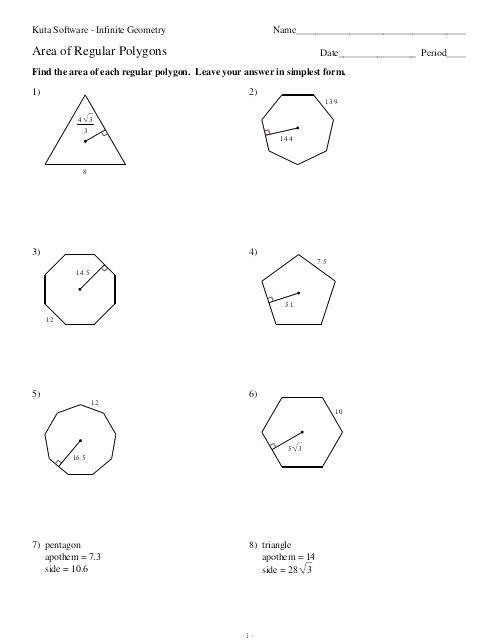 Regular Polygons Worksheet Regular Polygon Worksheets Math Polygon