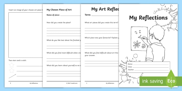 My Art Reflection Self Assessment Sheet