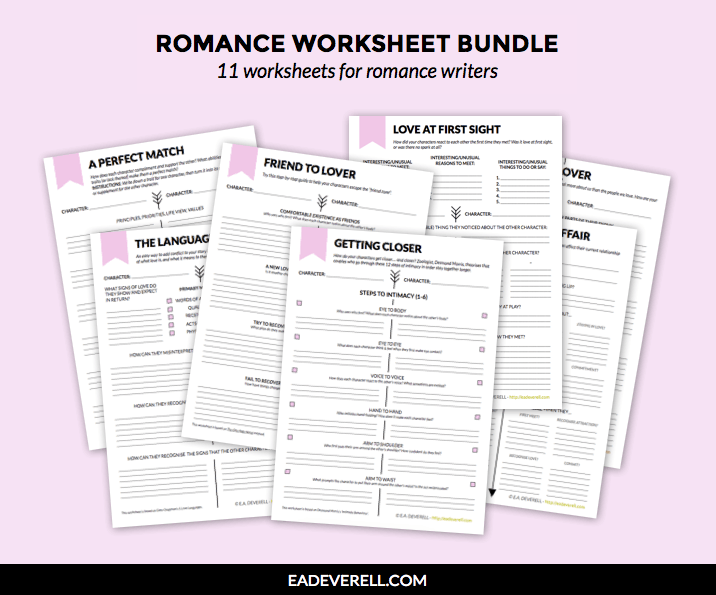 Romance Worksheets For Writers
