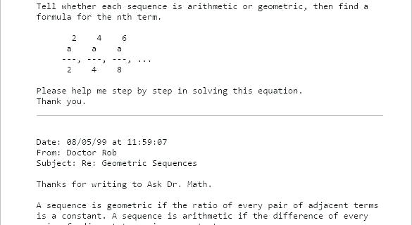 Sequence Math Problems With Answers Arithmetic Problems Worksheets
