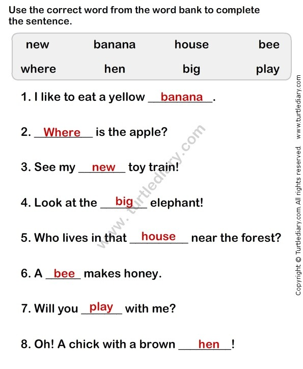 Simple Sentences Worksheet Download Them And Try To Solve