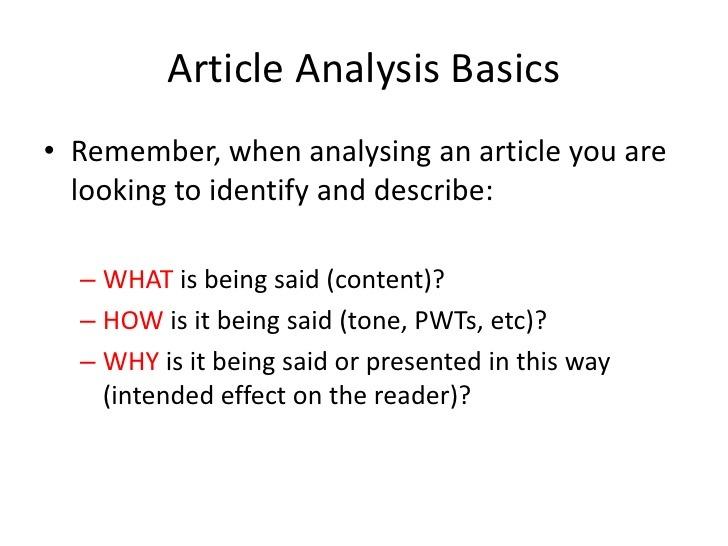 News Analysis Worksheet