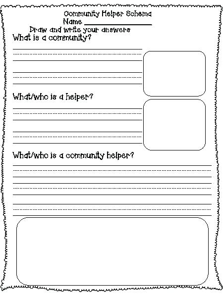 Community Helpers Preschool Theme Planning Playtime Worksheets