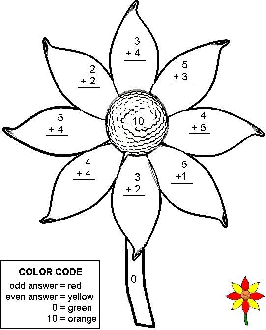 34 Color By Number Addition Worksheets