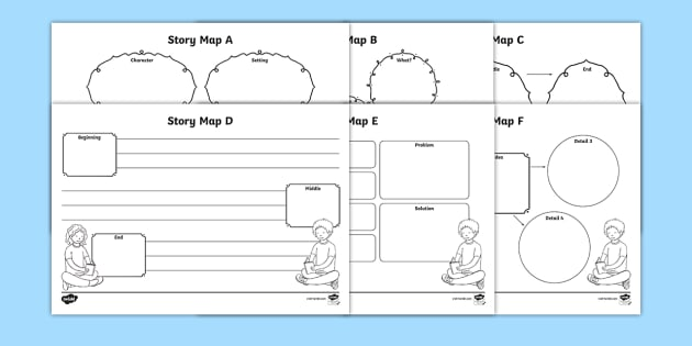 Story Map Worksheet   Worksheets Pack