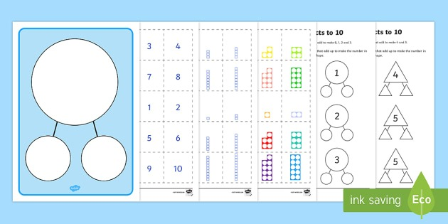 Number Facts To 10 Part Whole Worksheet   Worksheets