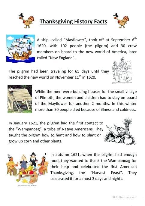 Teaching Thanksgiving History Worksheet Free Printable Teaching