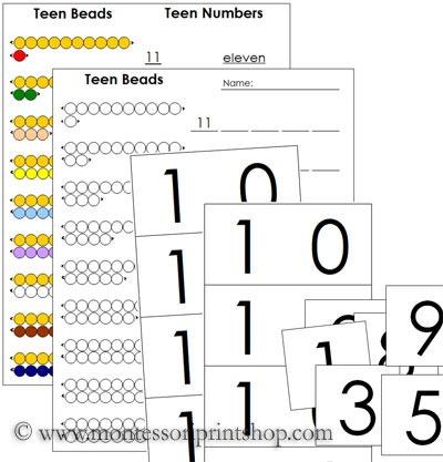 Printables  Montessori Math Worksheets  Lemonlilyfestival