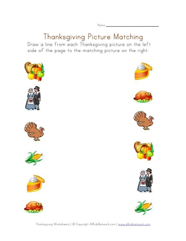 Thanksgiving Printable Worksheet