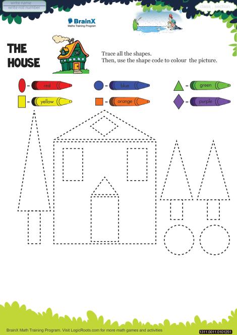 The House Math Worksheet For Kindergarten