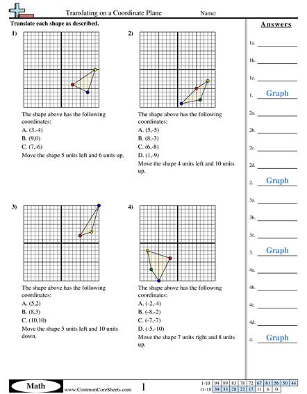 8 G 3 Worksheets