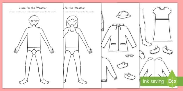 Dress For The Weather Worksheet   Worksheet