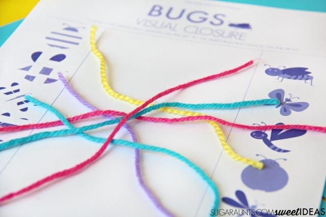 Visual Closure Activity Bugs Theme