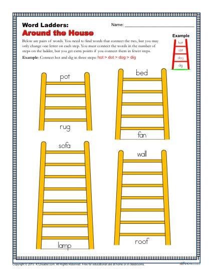 Around The House Word Ladders