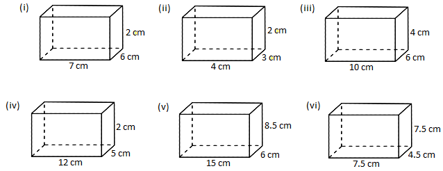 Worksheet On Volume Of A Cube And Cuboid