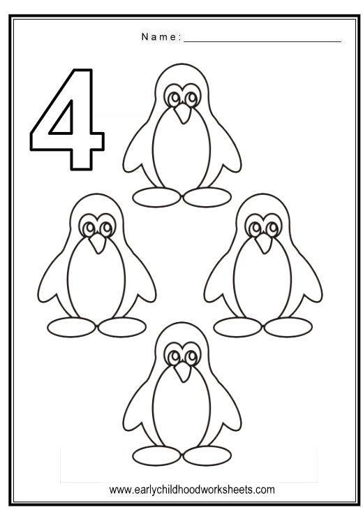 Number 4 Worksheets For Preschool