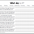 Days Of The Week Worksheets For First Grade