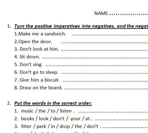 Imperative Test