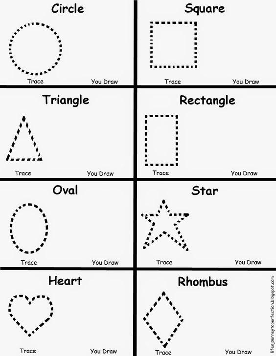 Preschool Shapes Worksheet Test