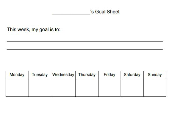 Goal Sheet (worksheet