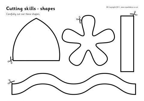 Cutting Skills Worksheets – Shapes (sb4523)