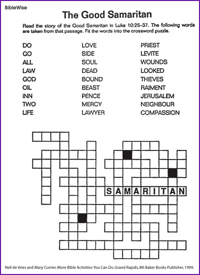The Good Samaritan (crossword)