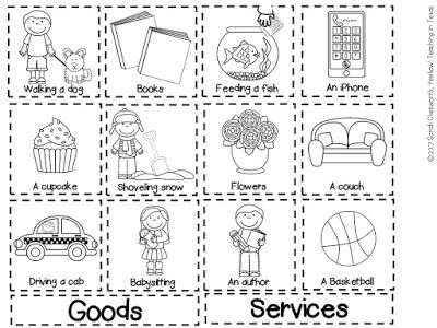 Goods And Services Sort Freebie! Perfect For Kindergarten Or First