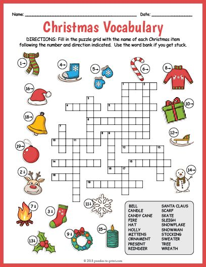 A Fun, Free Printable Crossword Puzzle Worksheet Featuring