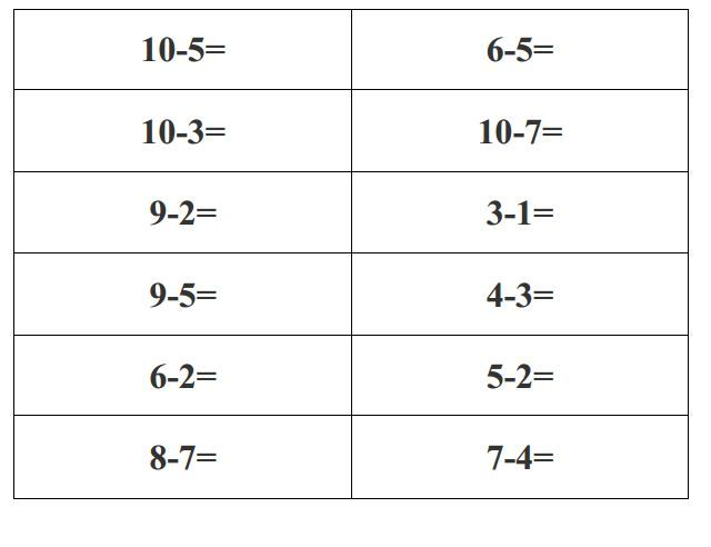 Easy Math Sheets