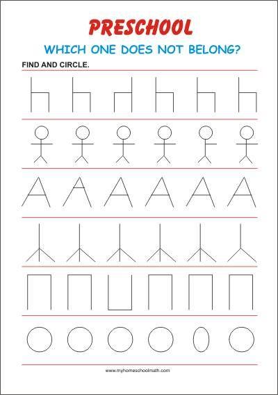 What Does Not Belong  Free Printable Worksheet