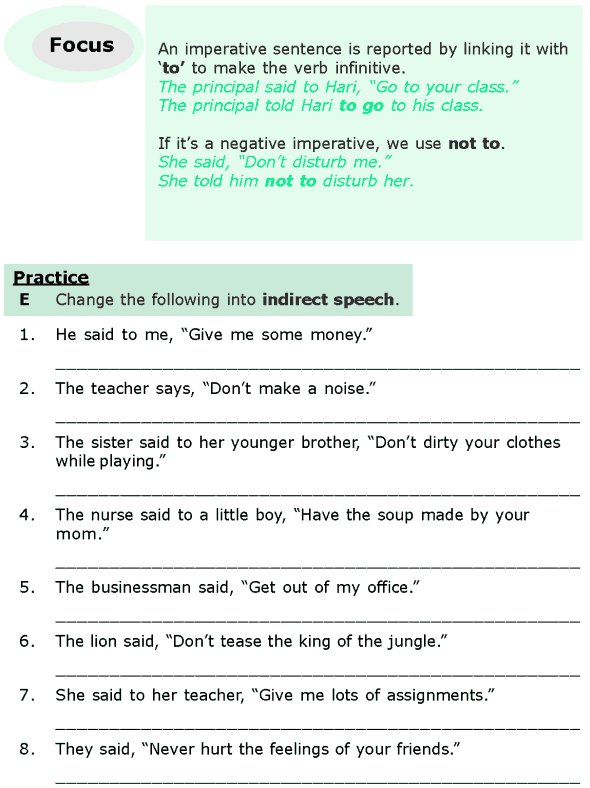 Grade 6 Grammar Lesson 13 Direct And Indirect Speech (5