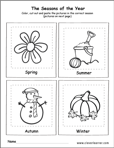 The 4 Seasons Coloring And Activity For Children