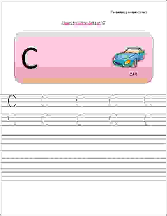 Nursery Class Capital Letters English Tracing Worksheet, Printable