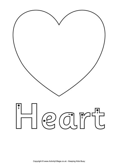 Finger Tracing Heart Worksheet