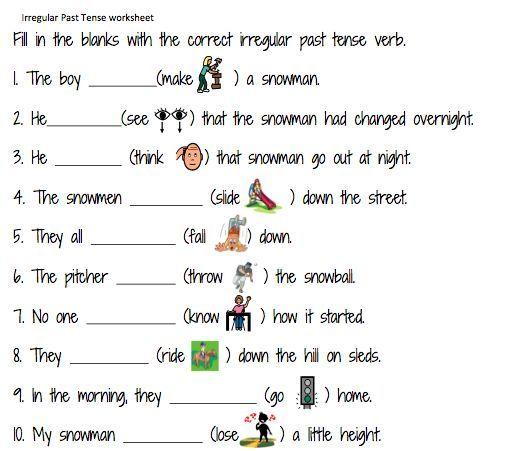 Simple Past Tense Worksheets For Grade 1 – Free Worksheets Samples