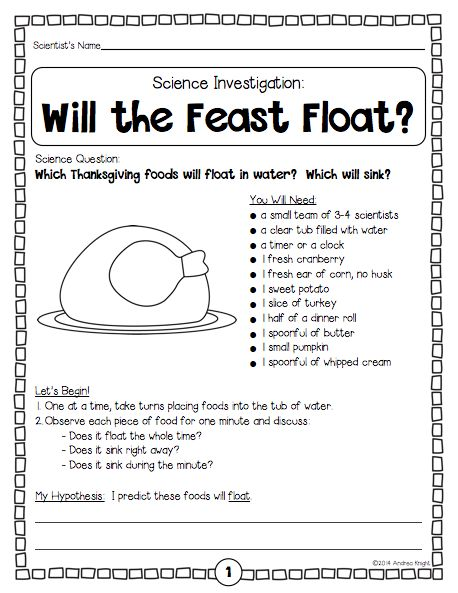 Thanksgiving Science  A Feast Of Five Fun Investigations {k