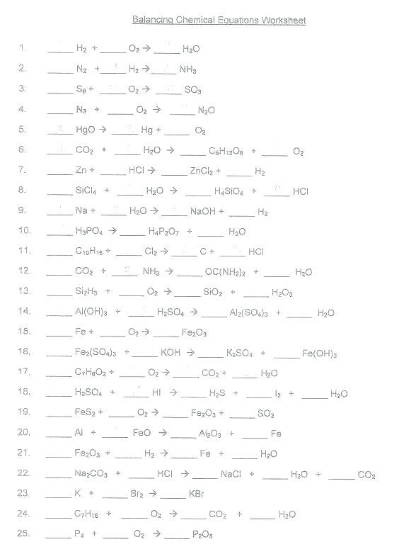 Balancing Ionic Equations Worksheets – Odmartlifestyle Com