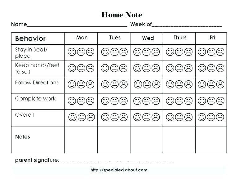 Behavior Modification Worksheets