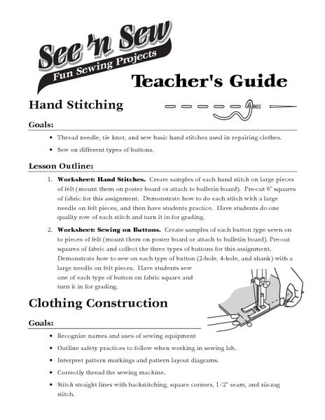 Sewing Machine Parts Lesson Plans & Worksheets Reviewed By