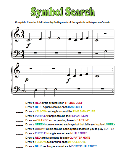 Free Printable Music Theory Worksheets From Pianimation