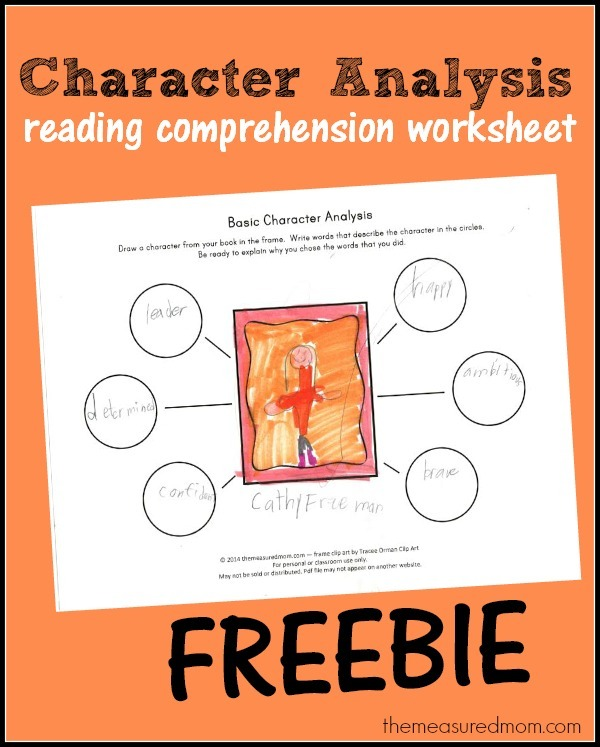 Free Character Analysis Worksheet For Kids