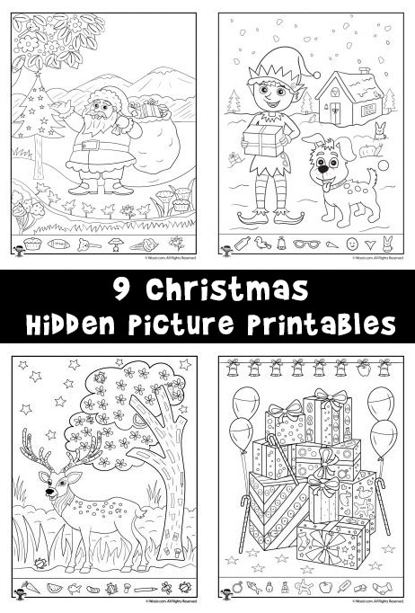 Christmas Hidden Pictures Printables For Kids