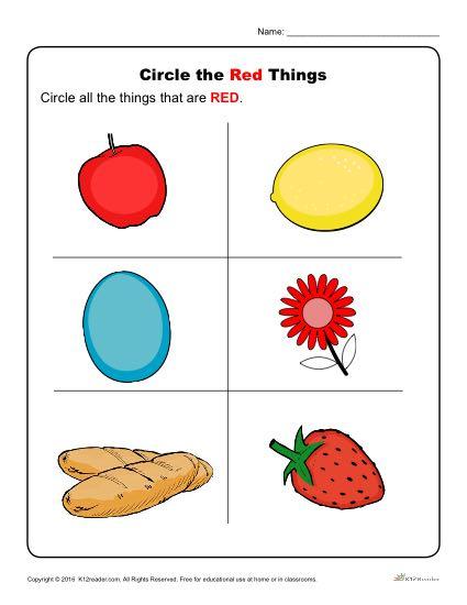 Circle The Red Things