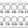 O'clock Worksheets For Kindergarten