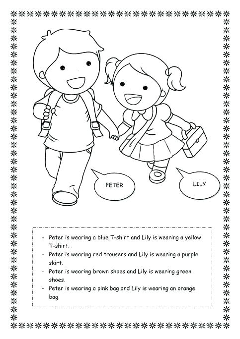 Clothes Worksheets – Sunsavers Co