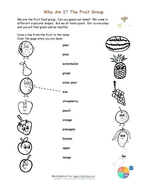 Healthy Eating Coloring Pages For Preschool Food Printable Foods