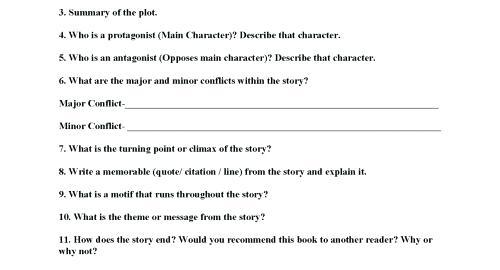 Conflict Worksheet Conflict Worksheets Conflict In Literature