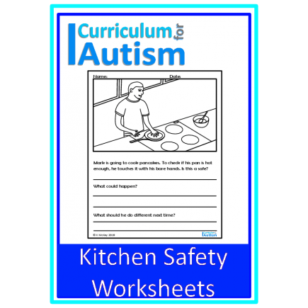Kitchen Safety Cooking Life Skills Worksheets