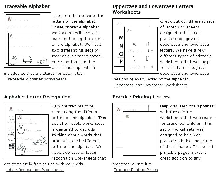 Alphabet Worksheets For Adults